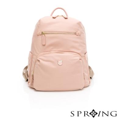SPRING-未來質感系列尼龍後背包-粉紅色