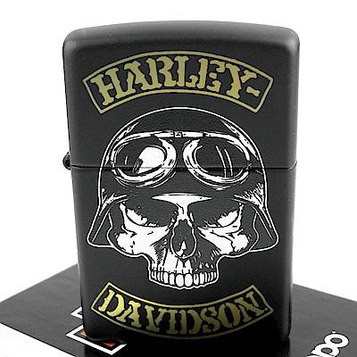 ZIPPO 美系~哈雷~Harley-Davidson-骷髏圖案打火機