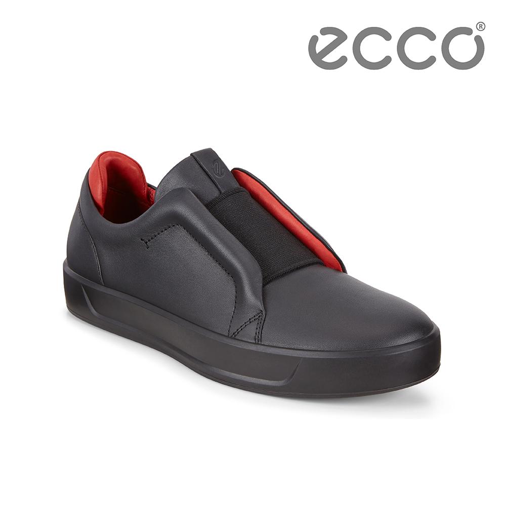 ECCO ECCO SOFT 8 W 撞色套入式休閒鞋 限定色 女-黑/紅