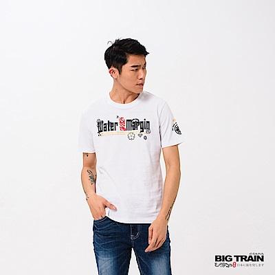 BIG TRAIN 水滸武將圓領短袖男T-男-黑色