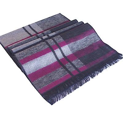 經典不敗-100%蠶絲圍巾(紫條紋)一條