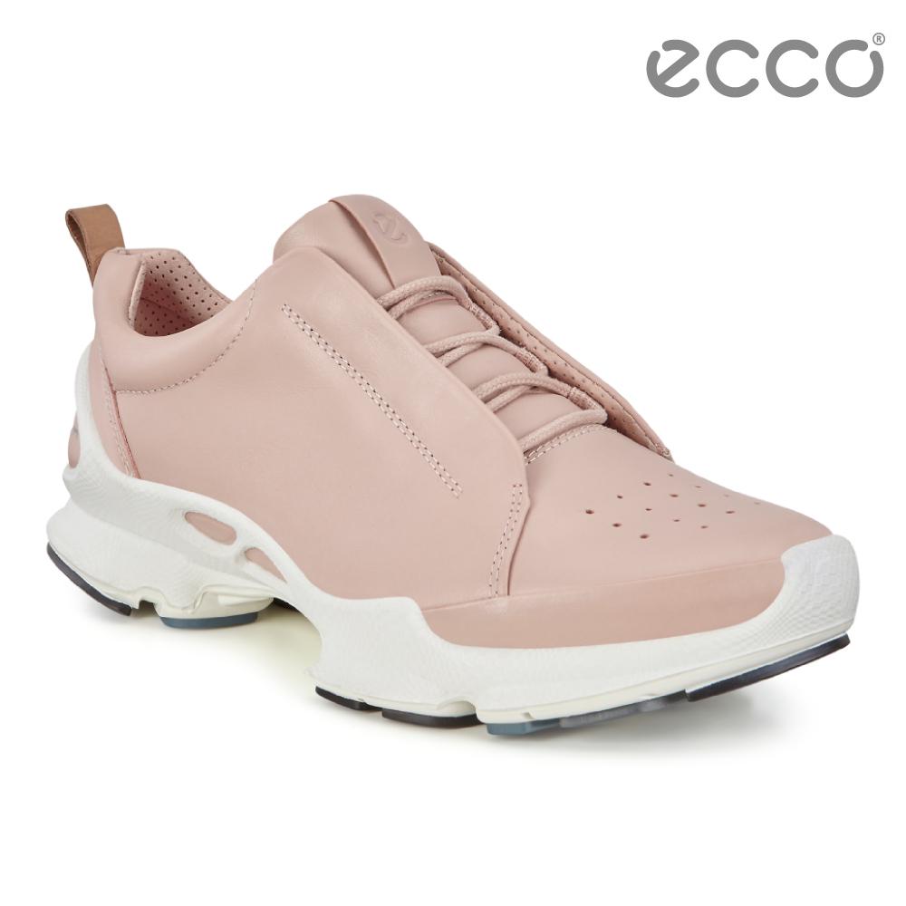 ECCO BIOM C W 經典潮流閃耀皮革運動休閒鞋 女-粉紅