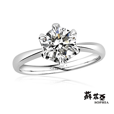 蘇菲亞 SOPHIA - 典雅六爪1.00克拉FVS2鑽石戒指-11號