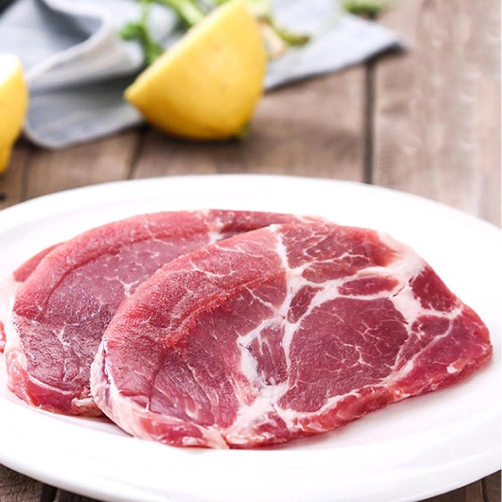 (滿額) 豪鮮牛肉 頂級精饌雪花沙朗豬排2片  (80公克±10%/片 )