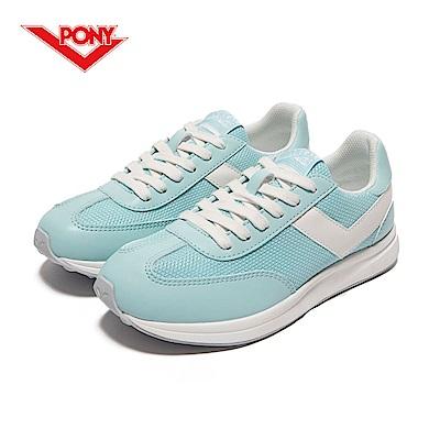 【PONY】Montreal 系列-經典運動復古鞋-女性-粉藍