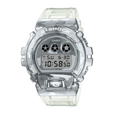 CASIO卡西歐 G-SHOCK 冰酷迷彩 金屬錶圈 半透明錶帶 GM-6900SCM-1_49.7mm