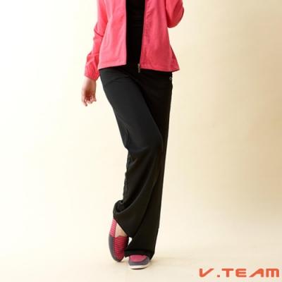【V.TEAM】女款韻律長褲-黑