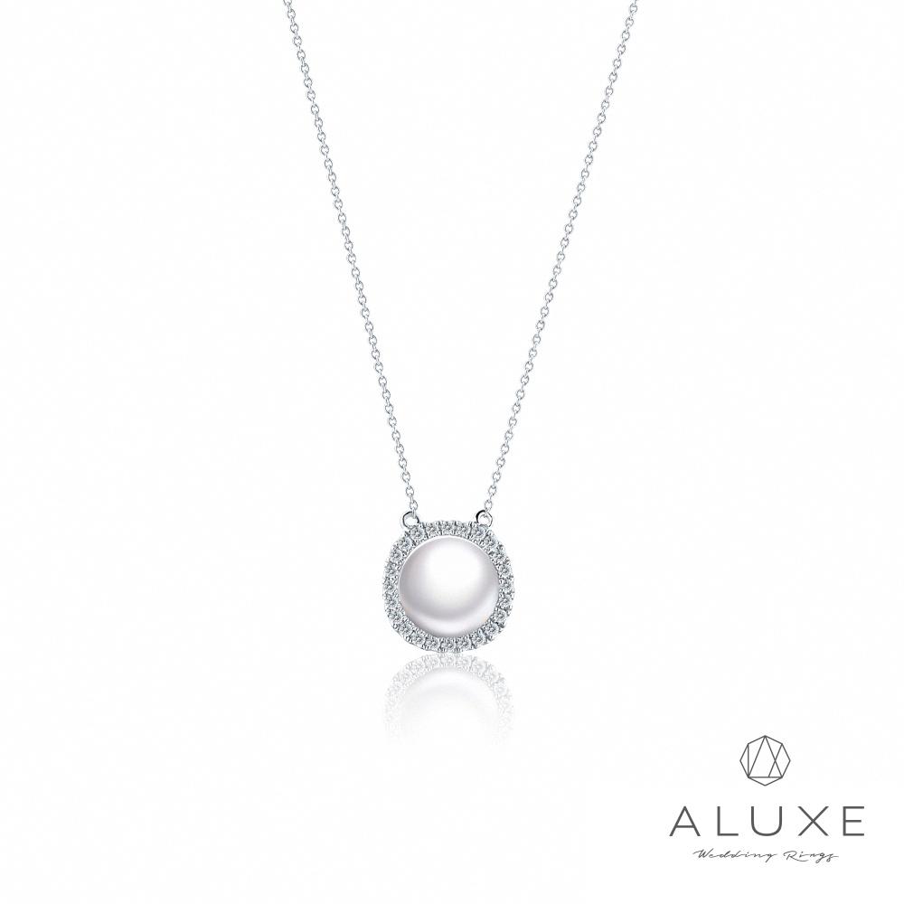 A-LUXE 亞立詩 寵愛系列BelovedI 19K鑽石AKOYA珍珠項鍊