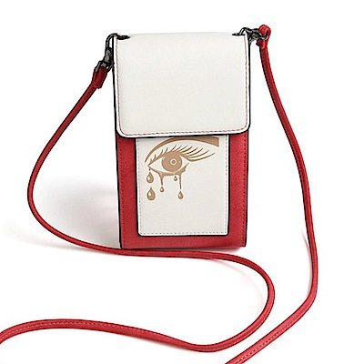 iSPurple 女神之淚 硬式皮革卡片手機側背包 紅