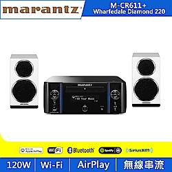 Marantz M-CR611擴大機+Wharfedale Diamond 220喇叭/白