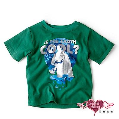 【天使霓裳-童裝】酷熱熊 兒童休閒短袖T恤上衣(綠)