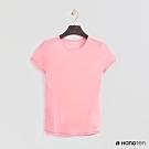 Hang Ten - 女裝-ThermoContro-純色拼接造型短袖上衣-粉