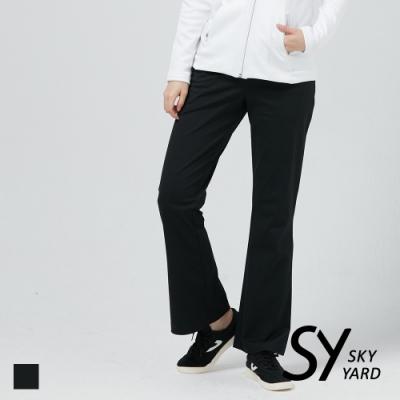 【SKY YARD 天空花園】素面小喇叭長褲-黑色