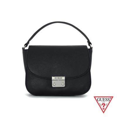 GUESS-女包-純黑素面俏皮圓角手提包-黑 原價2890
