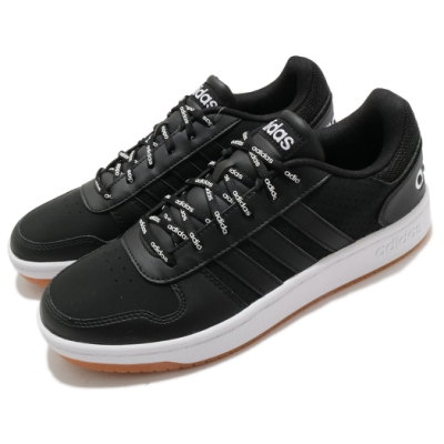 adidas 休閒鞋 Hoops 2 低筒 男鞋 愛迪達 麂皮 皮革 基本款 穿搭推薦 黑 白 FW4480