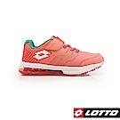 LOTTO 義大利 童 STRETCH 氣墊跑鞋 (粉橘)