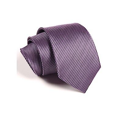 拉福   防水領帶8cm寬版領帶手打領帶(紫)