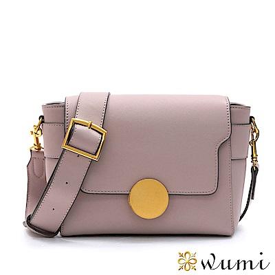 WuMi 無米 瑪格莉特法式圓釦包 淡粉紫
