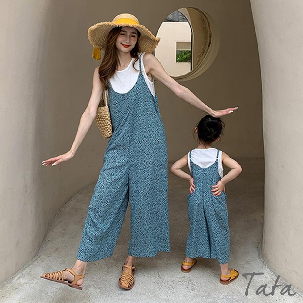 親子媽媽款 滿版小碎花背心吊帶連身褲 TATA-F