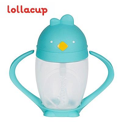 美國Lollaland可愛造型小雞杯 吸管學習杯/水壺296ml(布魯雞/蒂芬妮籃)