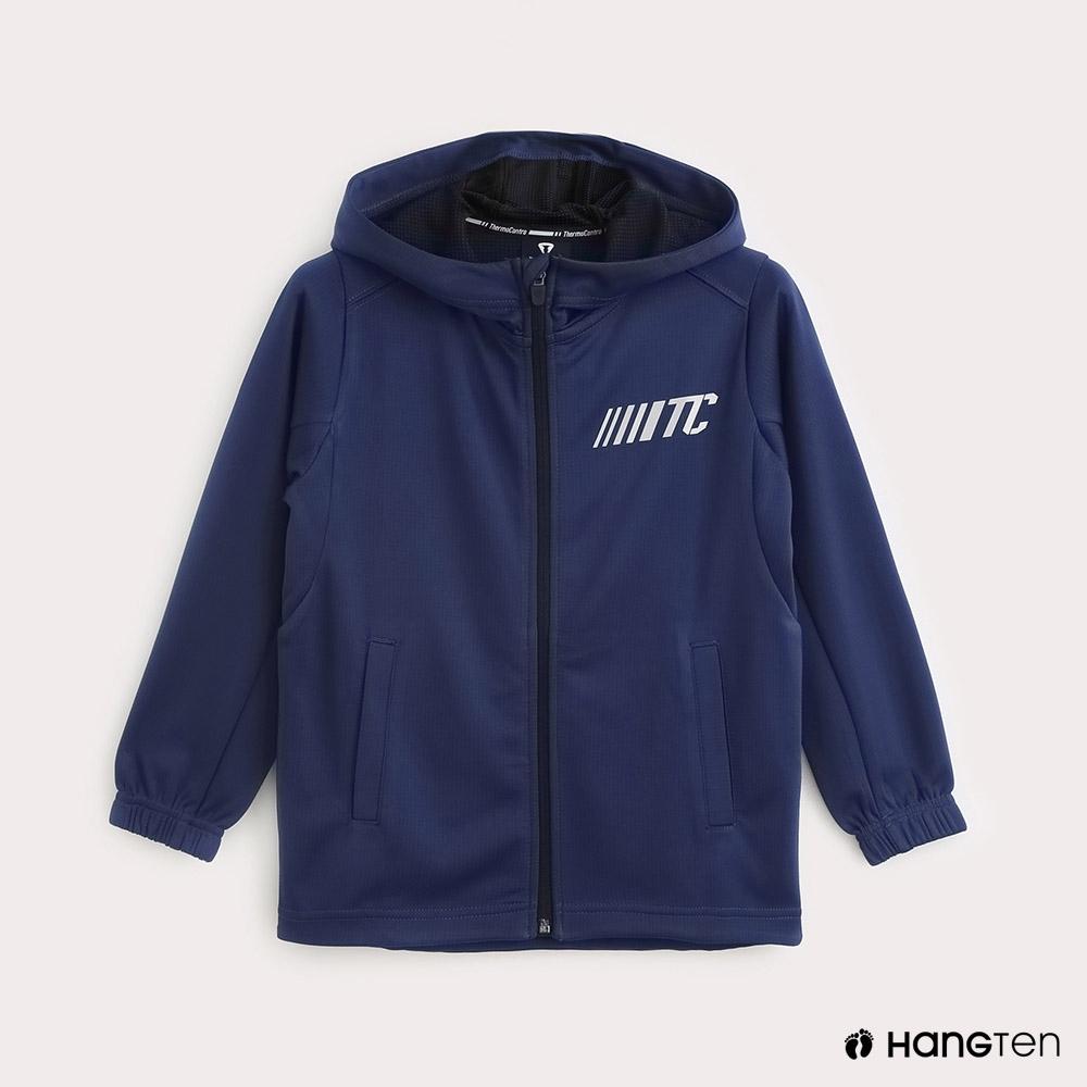 Hang Ten-ThermoContro-童裝機能純色連帽外套-藍
