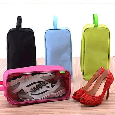 E-dot 加大款手提防水收納透明視窗鞋袋(4色選)