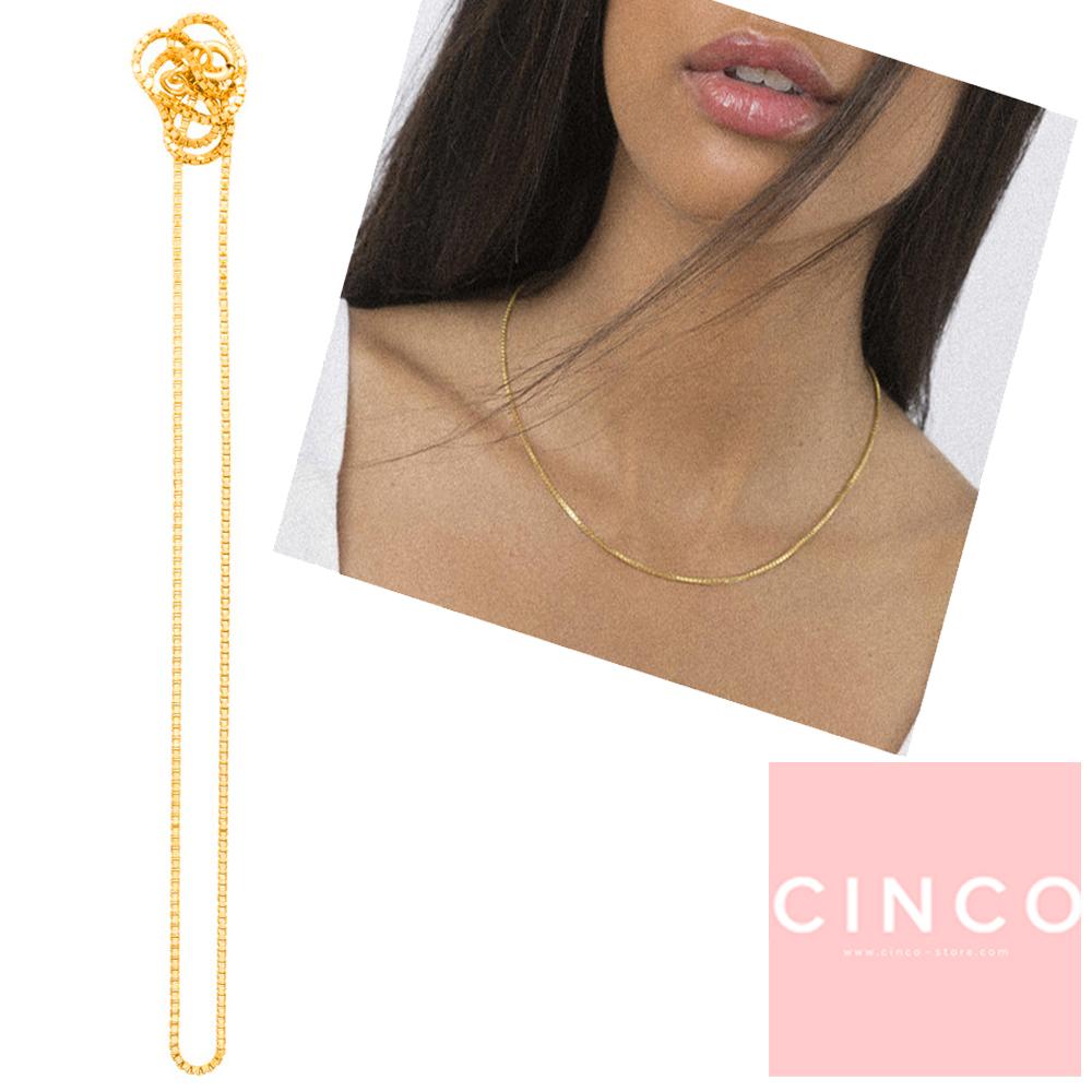 葡萄牙精品 CINCO Dolce choker 925純銀24K金頸鍊 簡約鎖骨鍊