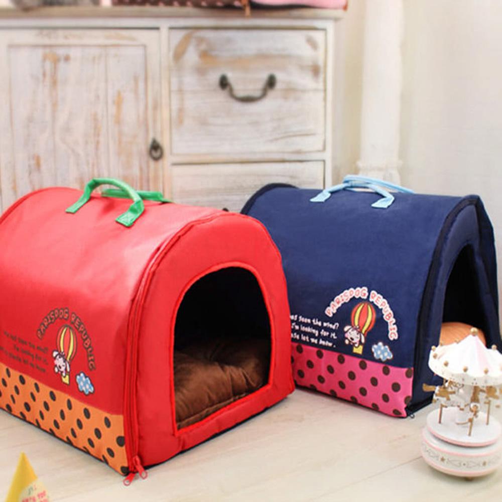 寵物貴族 韓國設計時尚狗窩/貓窩_附可愛法蘭絨骨頭&超柔軟彈性內墊/限量推出