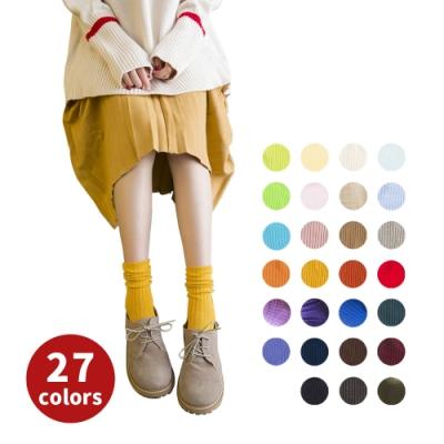 阿華有事嗎  日系襪子 純色針織堆堆襪 27色少女必備 日系百搭純棉襪