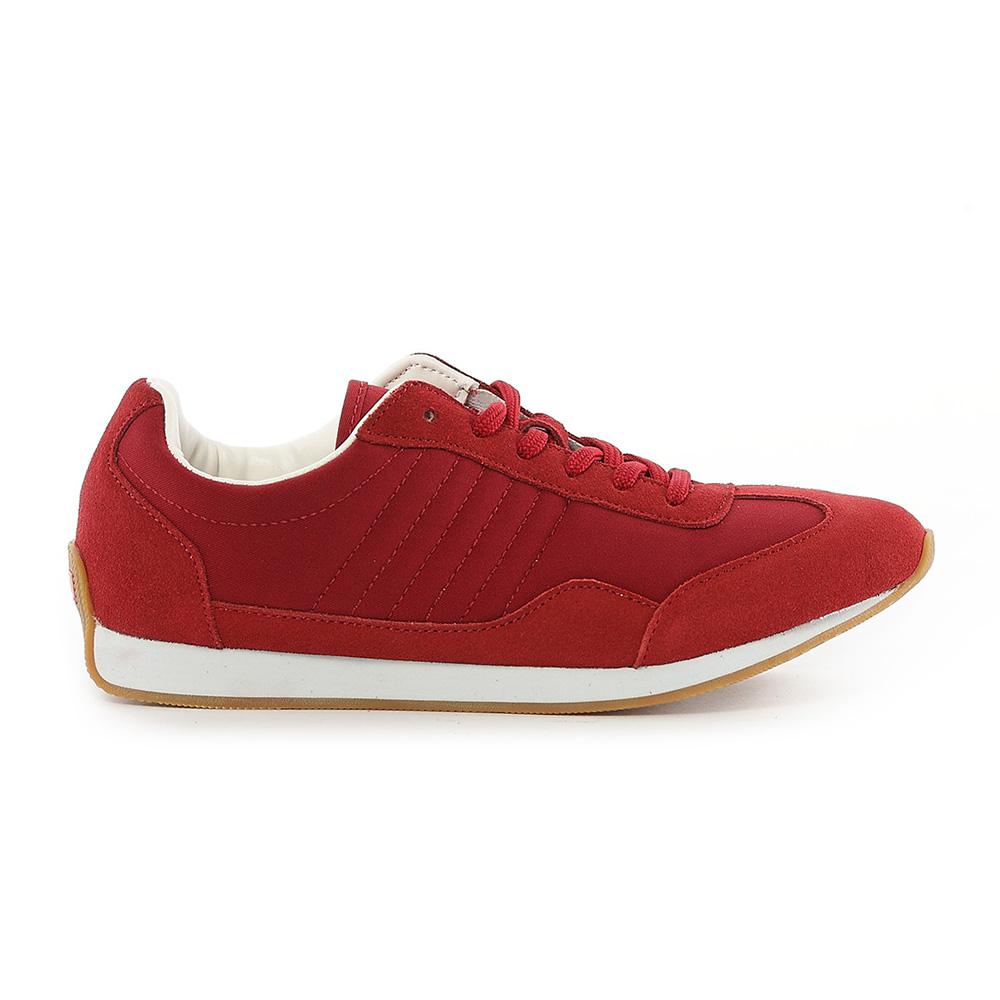 【TOP GIRL】古著風復古慢跑休閒鞋-紅
