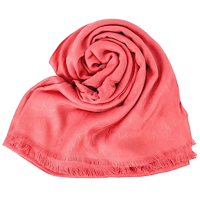 時時樂Calvin Klein 絲質寬版披肩圍巾