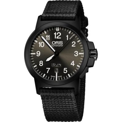 Oris BC3 Advanced 日曆星期機械腕錶-鐵灰x黑/42mm 0173576414733