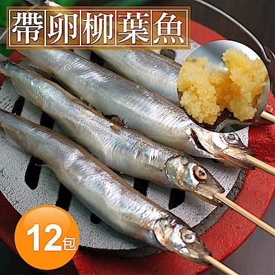 築地一番鮮-加拿大帶卵柳葉魚12包(約300g/包)免運組