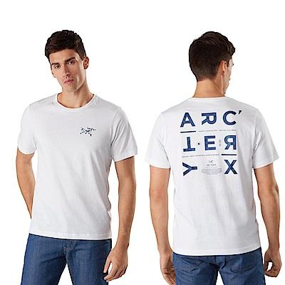 Arcteryx 始祖鳥 男 24系列 Component 有機棉 短袖休閒Tee 白
