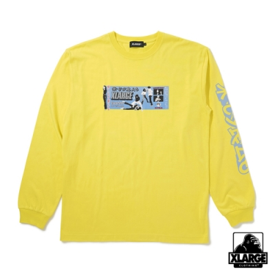 XLARGE L/S TEE FU YOU長袖T恤-黃