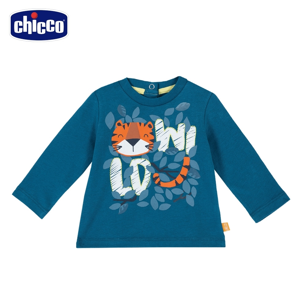 chicco-TO BE Baby-叢林虎印花長袖上衣