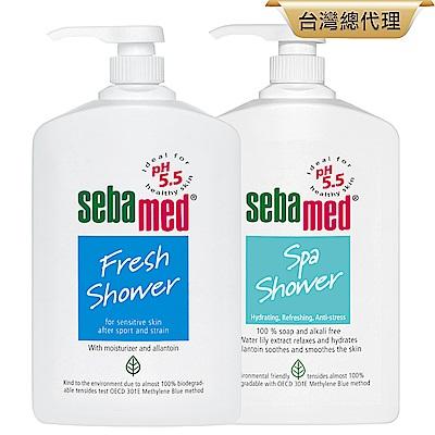 sebamed施巴 運動沐浴乳1000ml兩入組(麝香/花香)