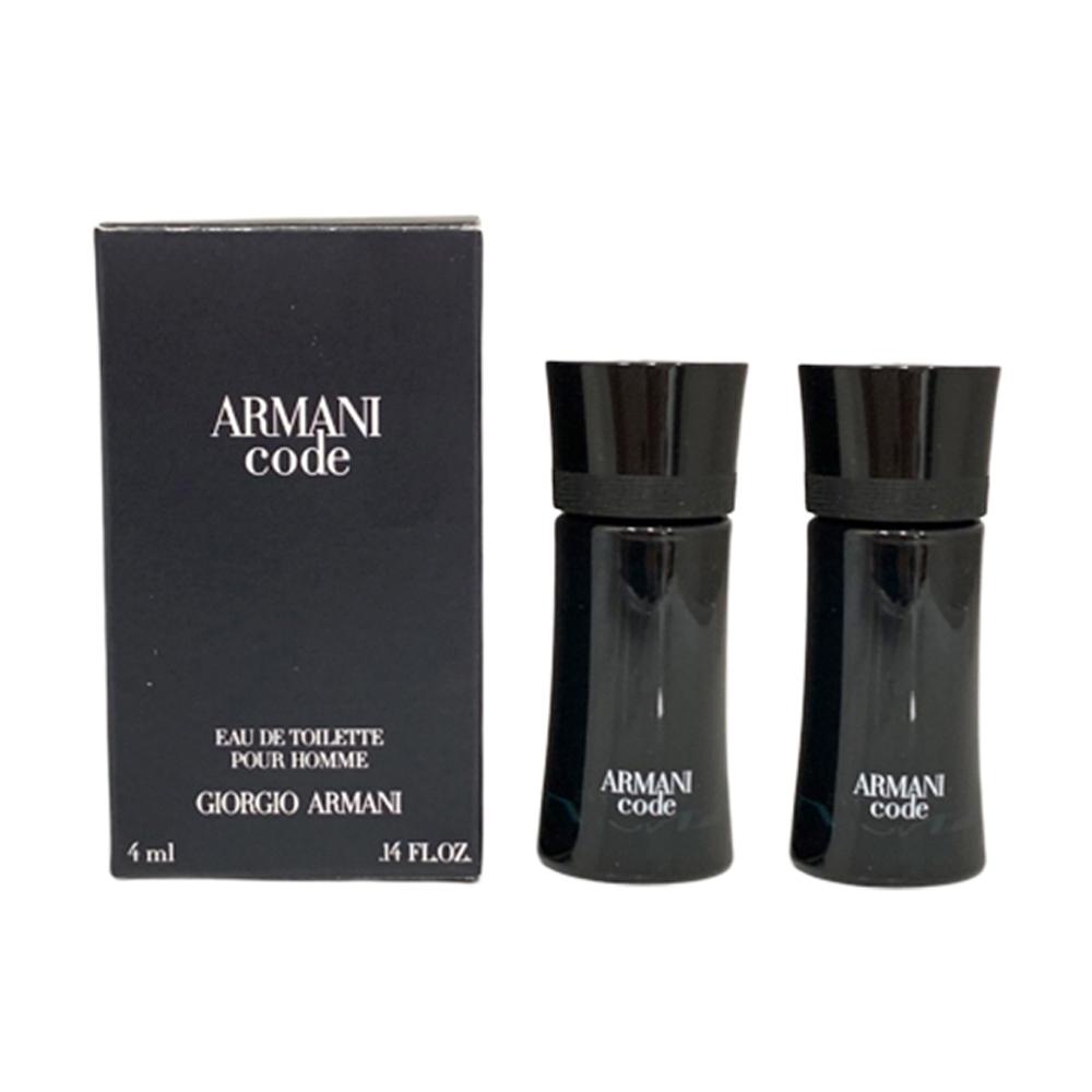 GIORGIO ARMANI亞曼尼 CODE黑色密碼男性淡香水 小香4mlx2入