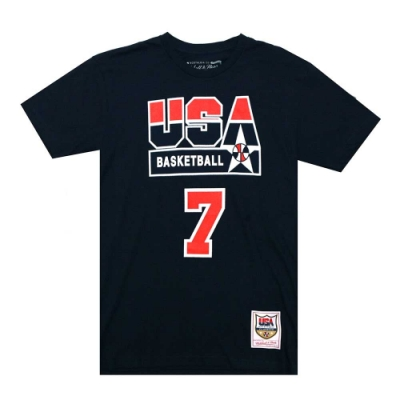 M&N 92 Dream Team 球員號碼短T #7 Larry Bird