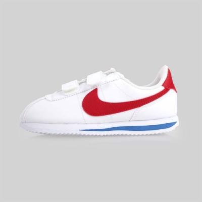 NIKE CORTEZ BASIC 男女童復古休閒鞋-阿甘鞋 白紅藍