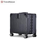 Travelhouse 旅遊邊界 17吋商務鋁框行李箱(太空黑)