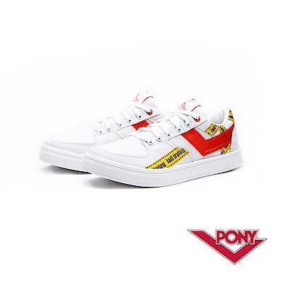 【PONY】A TOP系列-復古經典滑板鞋款-男-白