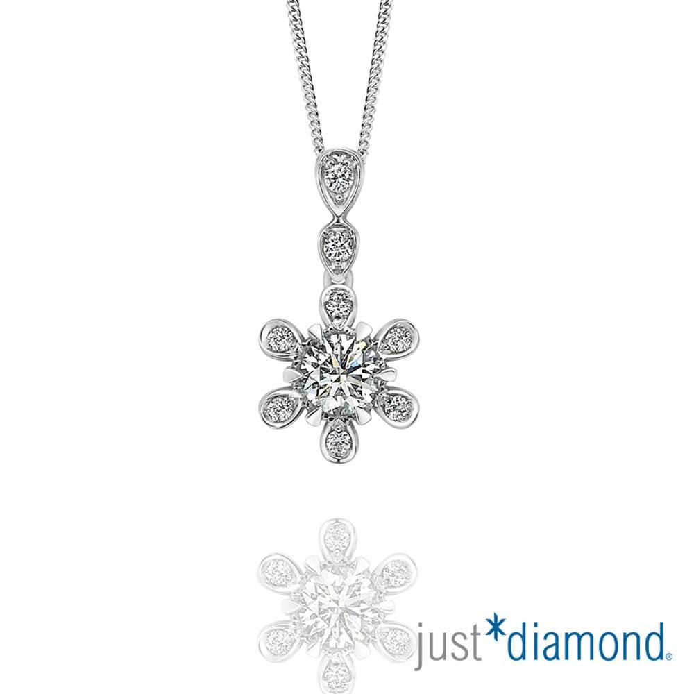 Just Diamond 真女人_水樣女人系列 GIA 主鑽0.3克拉 18K金鑽石墜子
