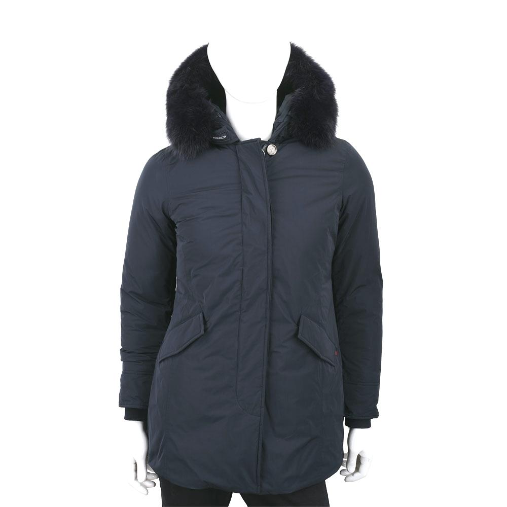 Woolrich Luxury Arctic Parka 可拆狐狸毛領深藍色連帽羽絨外套(男/女可用)
