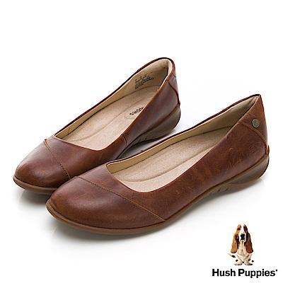 Hush Puppies Linnet 圓口厚底上班鞋-棕褐色