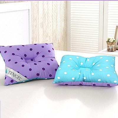 三浦太郎 頂級天絲雙色點點兒童人體工學保護枕