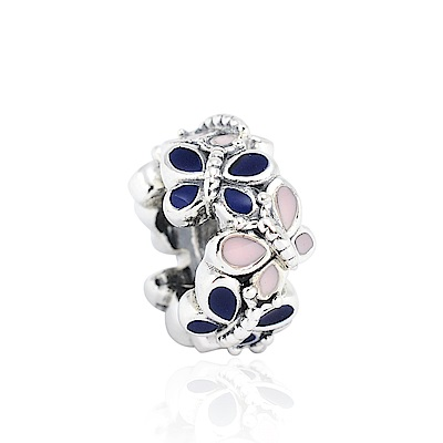 Pandora 潘朵拉 琺瑯蝴蝶花園 純銀墜飾 串珠