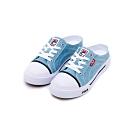 FILA COMO MULE 中性復古帆布鞋-丹寧藍 4-C623T-331