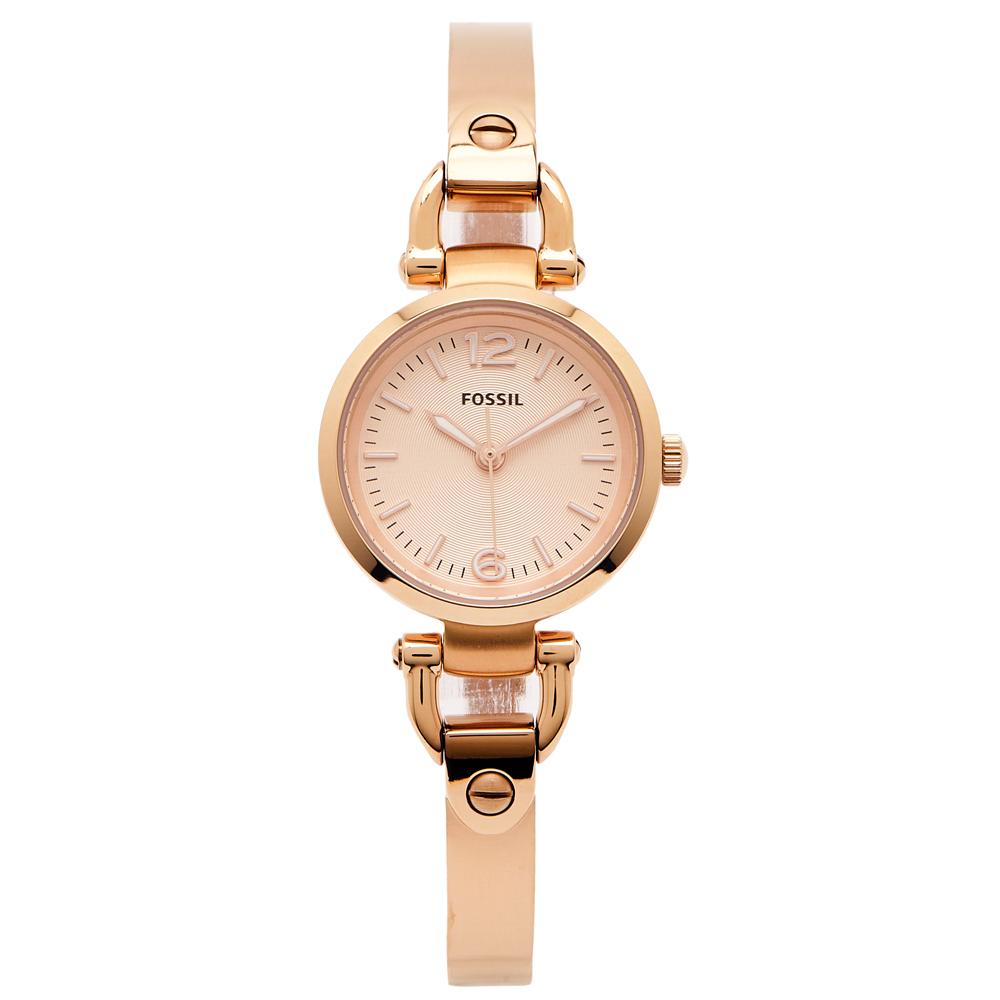FOSSIL 優雅都會佳人款女性手錶(ES3268)-香檳金色面/26mm