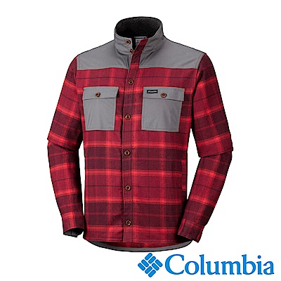 Columbia 哥倫比亞 男款- Omni-Shield 長袖襯衫-紅色